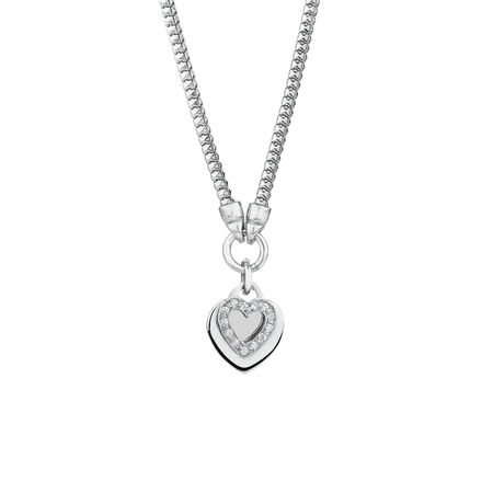 Double Heart Chain in Sterling Silver