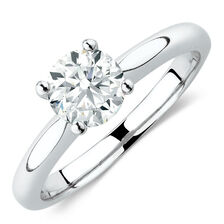 Northern Radiance Solitaire Engagement Ring with a 1 Carat TW Certified Canadian Diamond in 14ct White Gold