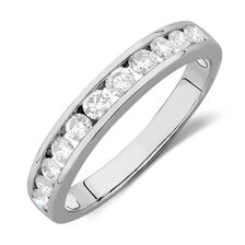 Online Exclusive - Wedding Band with 0.58 TW of Diamonds in 14kt White Gold