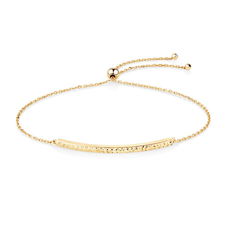 Adjustable Bar Bracelet in 10kt Yellow Gold