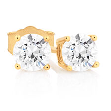 Classic Stud Earrings with 0.71 Carat TW of Diamonds in 14kt Yellow Gold