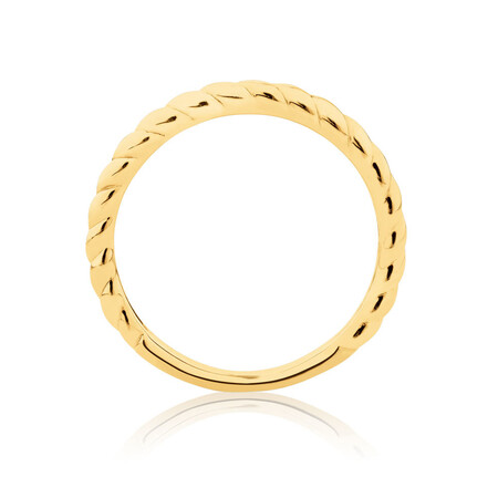 Twist Patterned Stacker Ring in 10kt Yellow Gold