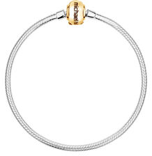 "10kt Yellow Gold & Sterling Silver 19cm (7.5"") Charm Bracelet"