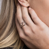 Knots Ring in Sterling Silver & 10kt Rose Gold