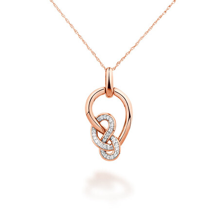 Medium Knots Pendant With 0.19 Carat TW Of Diamonds In 10kt Rose Gold