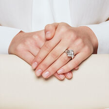 Online Exclusive - Bridal Set with 1.45 Carat TW of Diamonds in 14kt White Gold