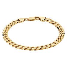 "21cm (8.5"") Men's Curb Bracelet in 10kt Yellow Gold"