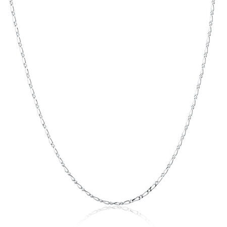"""40cm (16"""") Figaro Chain in Sterling Silver"""