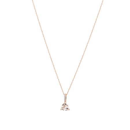 Pendant with Morganite & Diamonds in 10kt Rose Gold