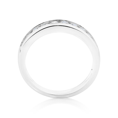 Evermore Wedding Band with 0.50 Carat TW of Diamonds in 18kt White Gold