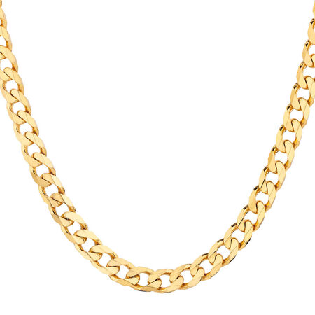 Solid Curb Chain in 10kt Yellow Gold