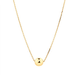 6mm Ball Necklace in 10kt Yellow Gold
