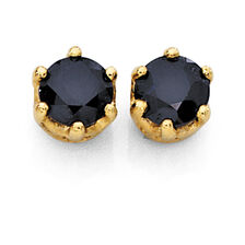 Stud Earrings with Sapphires in 10kt Yellow Gold
