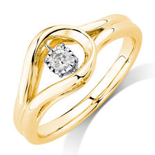 Everlight Ring with a 0.16 Carat TW Diamond in 10kt Yellow Gold