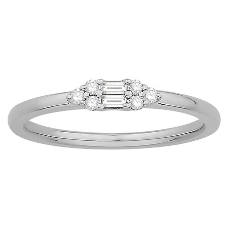 Stacker Ring with 0.12 Carat TW of Diamonds in 10kt White Gold