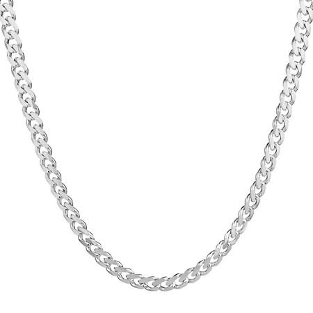 """50cm (20"""") Curb Chain in 925 Sterling Silver"""