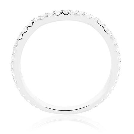 Michael Hill Designer Adagio Wedding Band with 0.39 Carat TW of Diamonds in 14kt White Gold