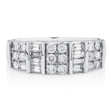 Ring with 3/4 Carat TW of Diamonds in 10kt White Gold