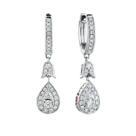 Sir Michael Hill Designer GrandAmoroso Drop Earrings with 0.33 Carat TW of Diamonds in 10kt White & Rose Gold