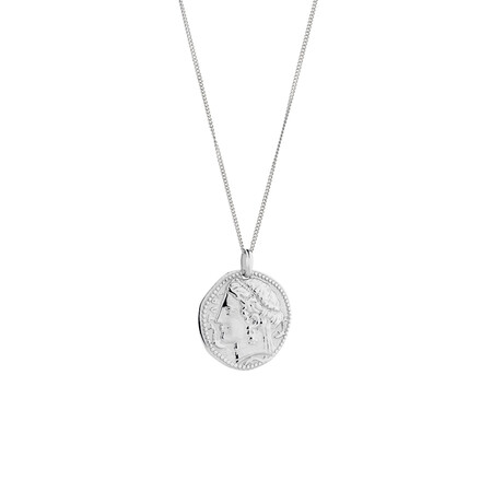 Large Coin Pendant in Sterling Silver