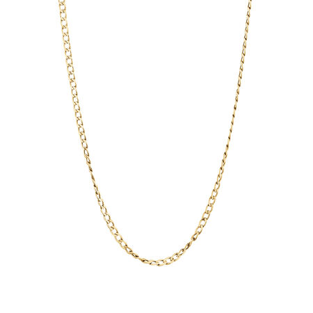 Hollow Curb Chain in 10kt Yellow Gold