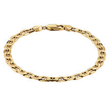 "19cm (7.5"") Anchor Bracelet in 10kt Yellow Gold"