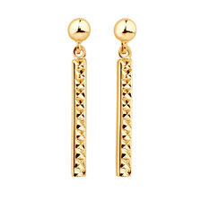 Drop Bar Earrings in 10kt Yellow Gold