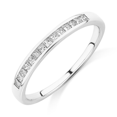 Evermore Wedding Band with 0.25 Carat TW of Diamonds in 14kt White Gold