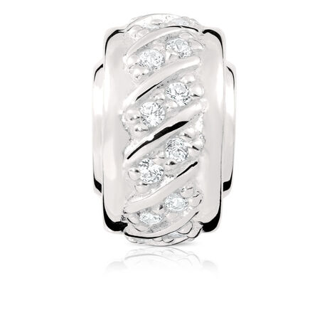 Charm with Cubic Zirconia in Sterling Silver