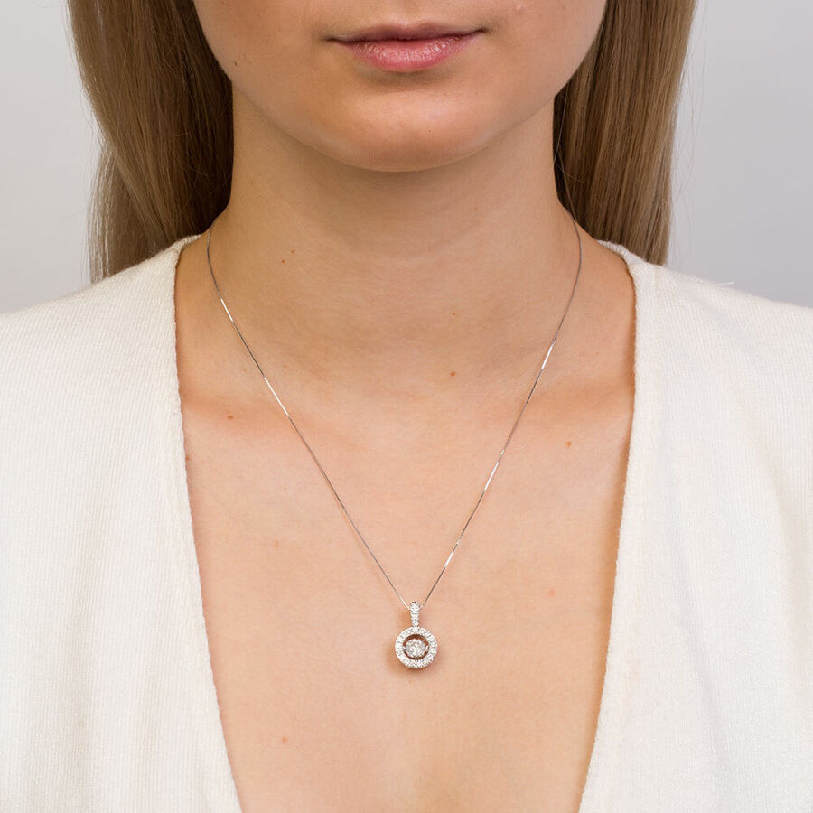 Everlight Pendant with 1 Carat TW of Diamonds in 14kt White Gold