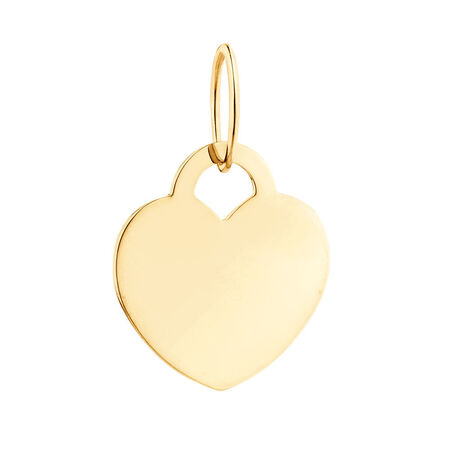 Large Heart Mini Pendant in 10kt Yellow Gold