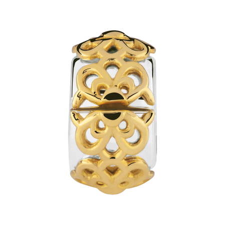 10kt Yellow Gold & Sterling Silver Flower Stopper
