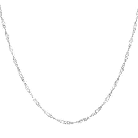 "45cm (18"") Singapore Chain in Sterling Silver"