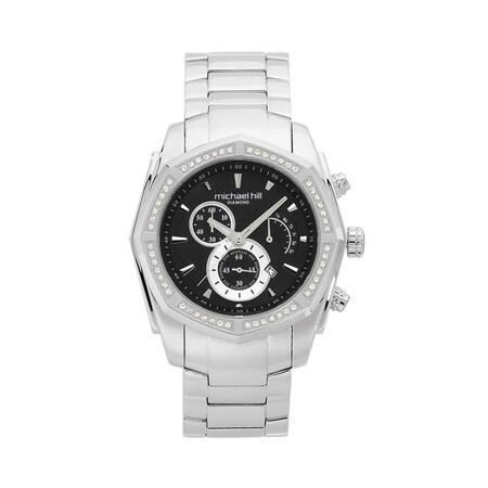 Men's Chronograph with 1/2 Carat TW of Diamonds in Stainless Steel