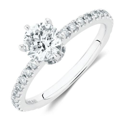 Sir Michael Hill Designer GrandAria Engagement Ring With 1 Carat TW Of Diamonds In 14ct White & Rose Gold