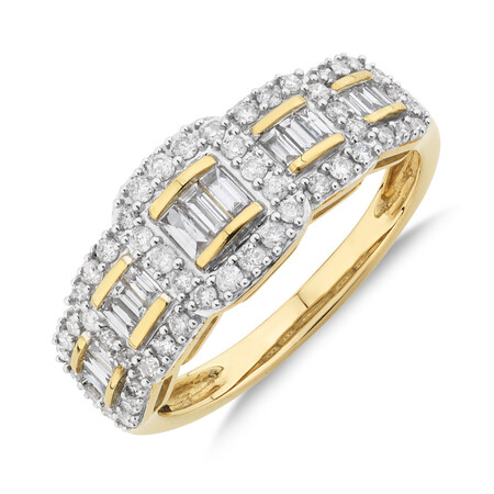 Ring With 0.60 Carat TW Diamonds In 10kt Yellow Gold