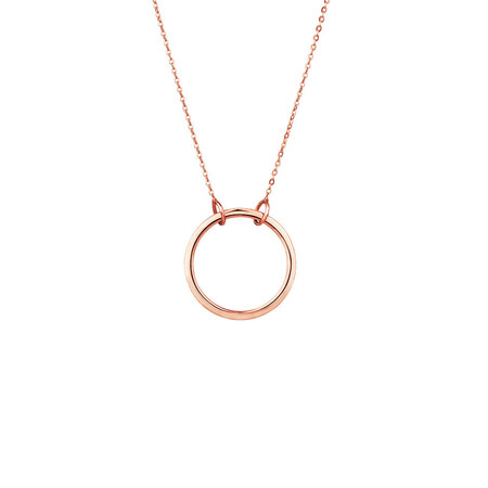 Circle Pendant in 10kt Rose Gold