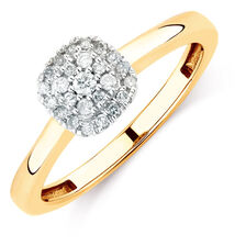 Promise Ring with 0.15 Carat TW of Diamonds in 10kt Yellow Gold