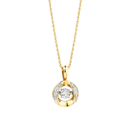 Everlight Pendant with 0.12 Carat TW of Diamonds in 10kt Yellow Gold