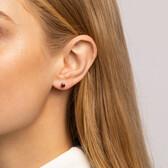Stud Earrings with Rhodolite Garnet in 10kt Yellow Gold