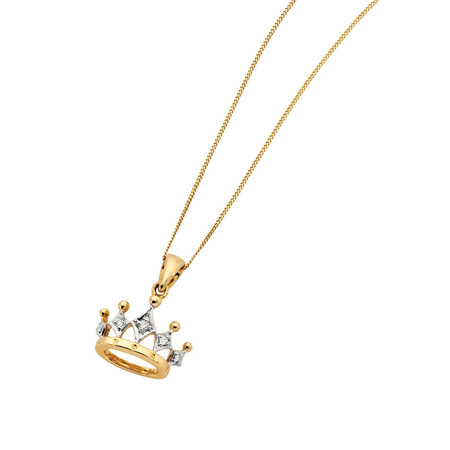 Pendant with Diamonds in 10kt Yellow & White Gold