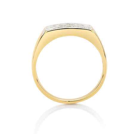 Men's Channel Set Ring in 10kt Yellow Gold With 1/2 Carat TW of Diamonds