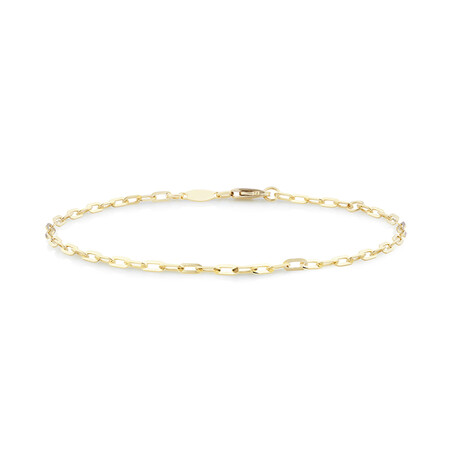 Paperclip Bracelet In 10kt Yellow Gold