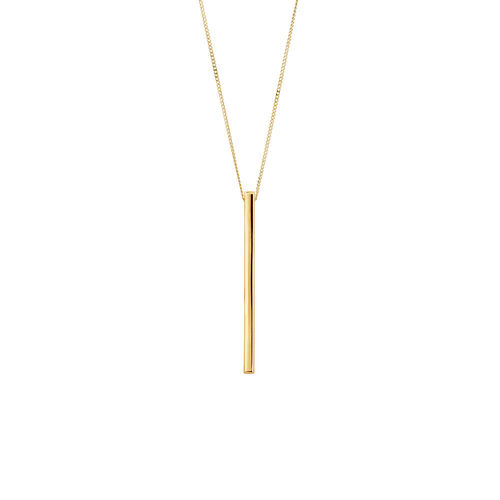 Vertical Bar Pendant In 10kt Yellow Gold