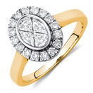 Engagement Ring with 3/4 Carat TW of Diamonds in 14kt Yellow & White Gold