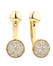 Stud & Enhancer Earrings with 0.20 Carat TW of Diamonds in 10kt Yellow Gold