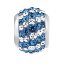 Blue & White Crystal Charm
