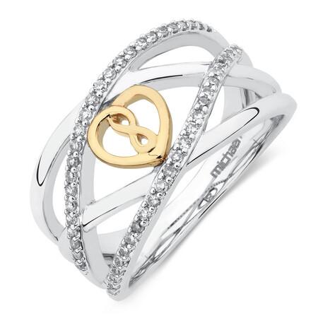 Infinitas Ring with 1/4 Carat TW of Diamonds in 10kt Yellow Gold