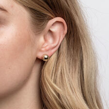 Patterned Ball Stud Earrings in 10kt Yellow Gold