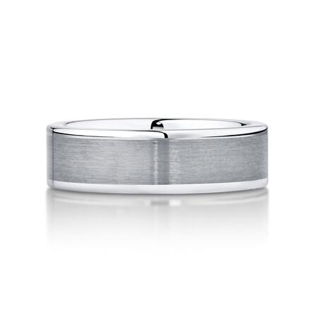 Men's Ring in Grey Sapphire Tungsten